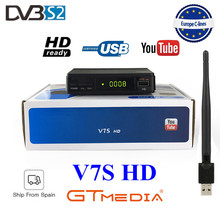 цена на Best Original Freesat V7 HD Satellite Receiver Full 1080P +1PC USB WiFi DVB-S2 HD Support Ccam powervu youpron set top box power