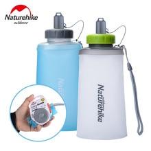 Naturehike 500 750ml Mini taşınabilir silikon katlanır Ultralight spor şişesi su şişeleri açık dağcılık bardak NH61A065-B