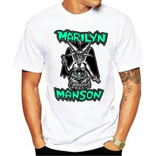 1994 Marilyn Manson I Am The God Of Vintage.usa Size Summer Personality Men 2021 Fashion Cotton T-shirt