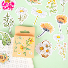 46Pcs/lot Daisy Paper Sticker Creative Hand Account Diary DIY Photo Album Notebook Decoration Kids Toy Function Sealing Stickers
