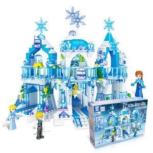 2020 princesse reine des neiges château de glace figurines de neige blocs de construction jouet Compatible amis ville briques jouets pour enfants(China)