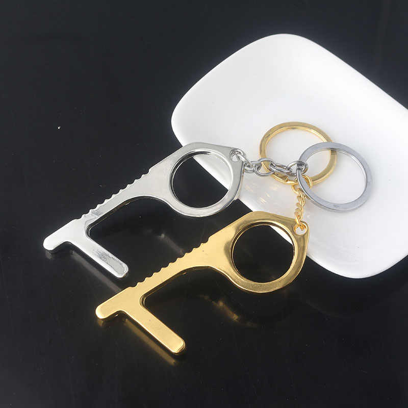 Hooks on a Key Chain /& Fits in a Wallet Hands Free Sanitary Utility Hook Made in The USA Button Pusher klēnkey New No Touch Door Opener Tool Great for Public Use