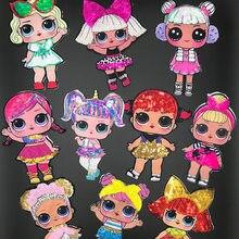Lol surpresa boneca pano adesivos bonito remendo adesivos decorativos bordado crianças decoração remendo buraco