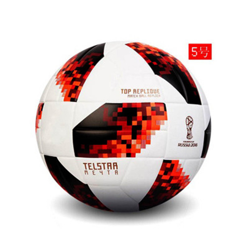 Official Size 5 Football Ball PU Granule Slip-resistant Seamless Soccer Ball Goal Team Match Football Training Balls