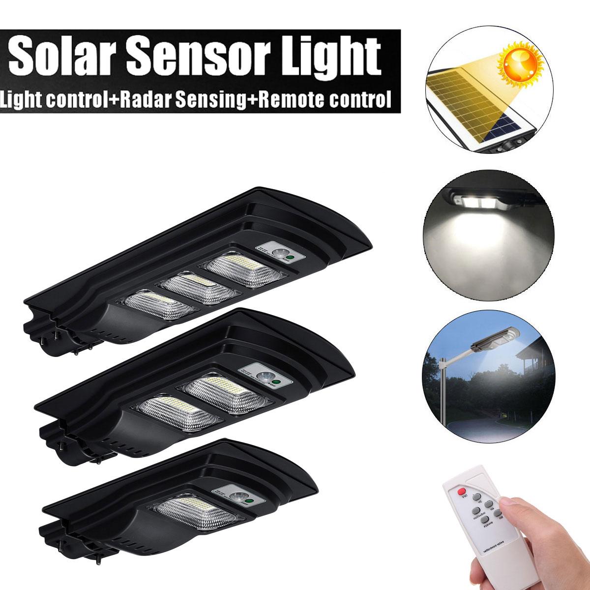 30W/600W/90W LED Solar Street Light Solar Light Radar PIR Motion Sensor Wall Timing Lamp+Remote Comtrol Waterproof For Plaza