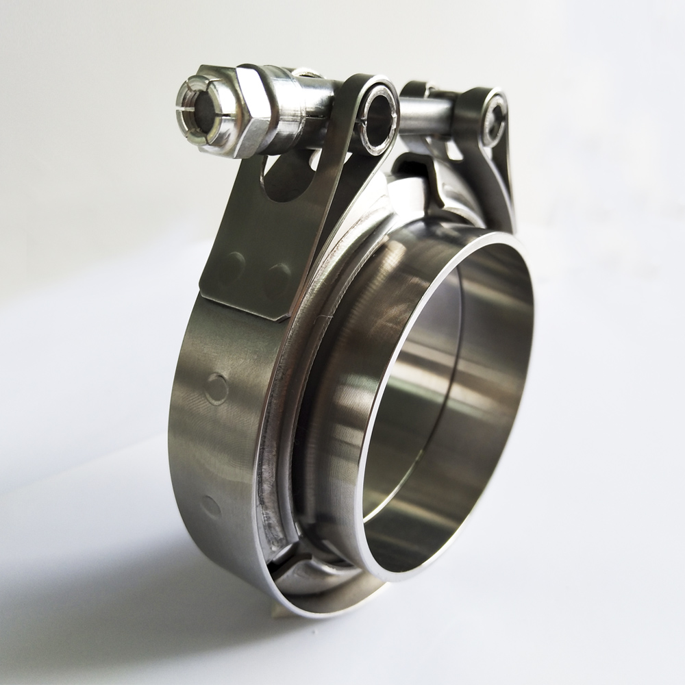 ZUCZUG 1.5 inch metal clench nut  stainless steel V band  auto exhaust downpipe clamp flange kit|v band|stainless v banddownpipe flange - AliExpress