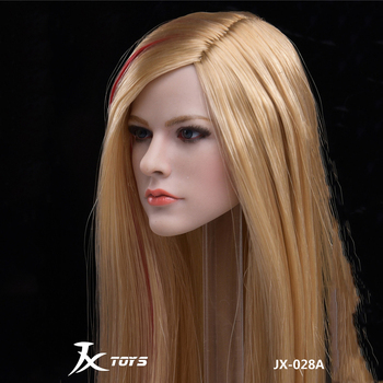 цена на In Stock 1/6 Scale Women JX-028A Avril Singer Head Sculpt Model For 12