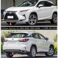 Front & Rear Bumper Diffuser Lip Spoilers For LEXUS RX200t RX300 RX450h = F SPORT 2015 2019 High Quality ABS Auto Accessories