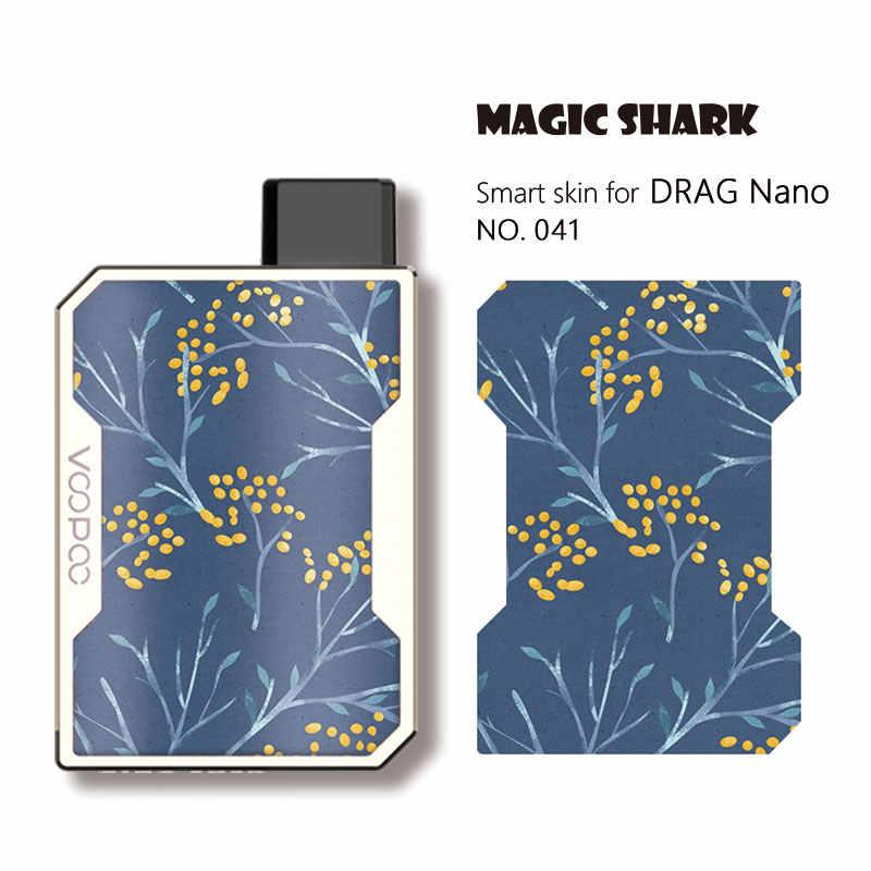 Tiburón mágico juego de moda flor Super Saiyan hoja Dragon Ball calavera LOL JINX carcasa con adhesivo película de piel para Voopoo Drag Nano 041-050
