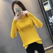 Высококачественная пряжа свитер с половинным воротником женский