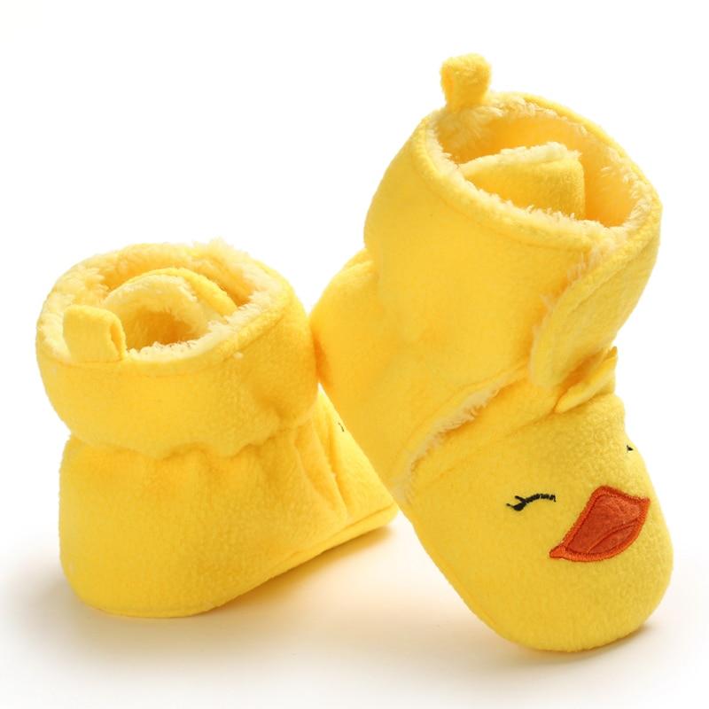 Toddler Girls Shoes Cartoon Prewalker Baby Shoes First Walkers Infant Winter Warm Plus Velvet Baby Girls Shoes