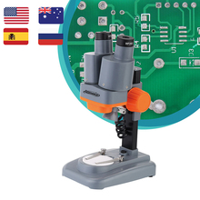 40X Binocular Stereo Microscope with Above LED Wide Field of Vision for PCB Sold
