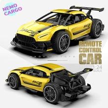 Nemocargo-coche de carreras teledirigido para niños, 2,4G, 4 canales, 1:24, Mini coche de conducción eléctrico de alta velocidad, juguete de regalo