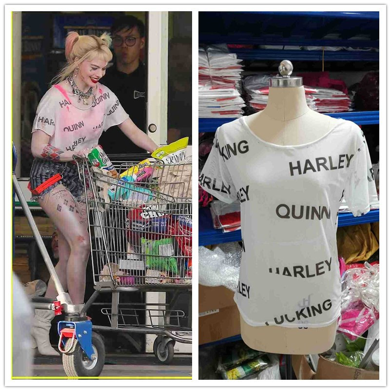 New Cosplay Birds Of Prey Harley Quinn Suicide Squad Costumes T-Shirt Woman Halloween Costume Party Props 3 Types