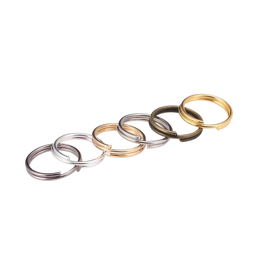 200pcs/lot 6 8 10 12 mm Silver Gold Open Jump Rings Double Loops Split Rings Connectors For Jewelry Findings Making DIY Supplies