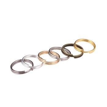 200 pçs/lote 6 8 10 12 mm ouro aberto anéis de salto duplo loops split anéis conectores para descobertas de jóias fazendo suprimentos diy