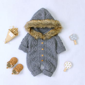 LZH 2020 Autumn Infant Hooded Knitting Jacket For Baby Clothes Newborn Coat For Baby Boys Girl Jacket Winter Kids Outerwear Coat 9