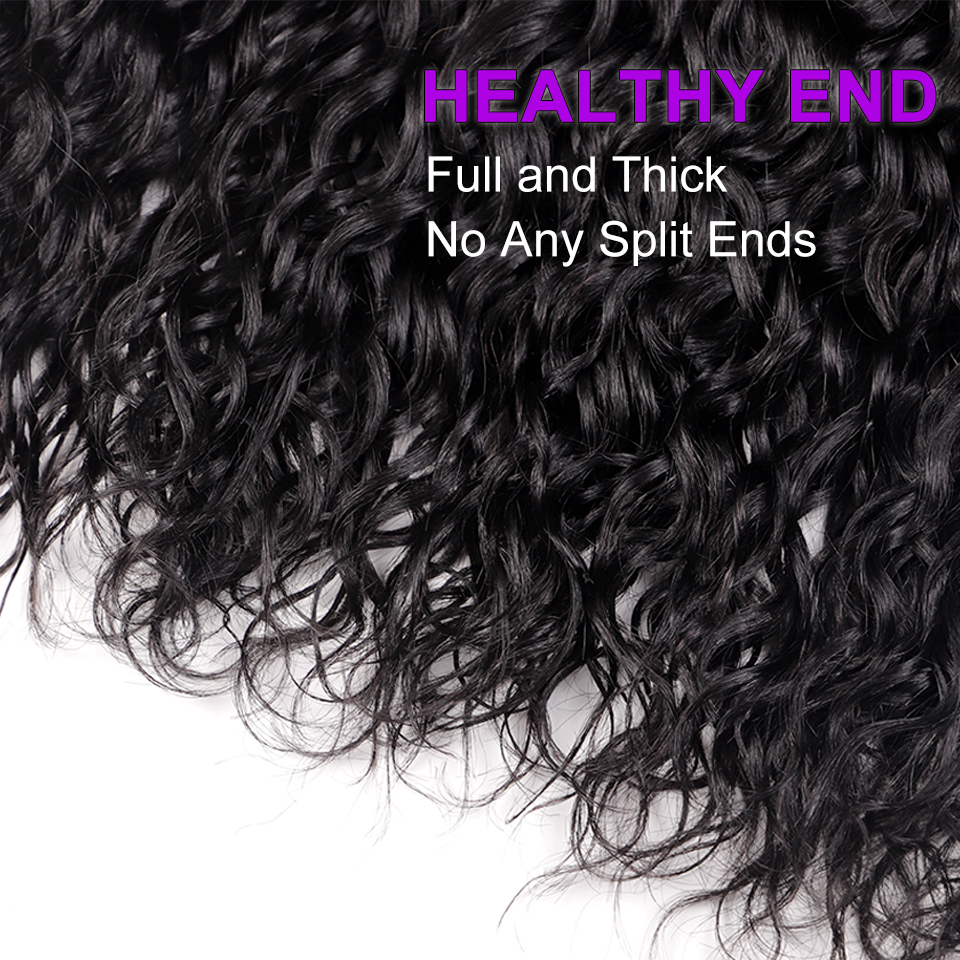 H5962f3c9ab7c469894304f17e9f08bff1 AngelGrace Hair Water Wave Bundles With Closure Remy Human Hair 3 Bundles With Closure Brazilian Hair Weave Bundles With Closure