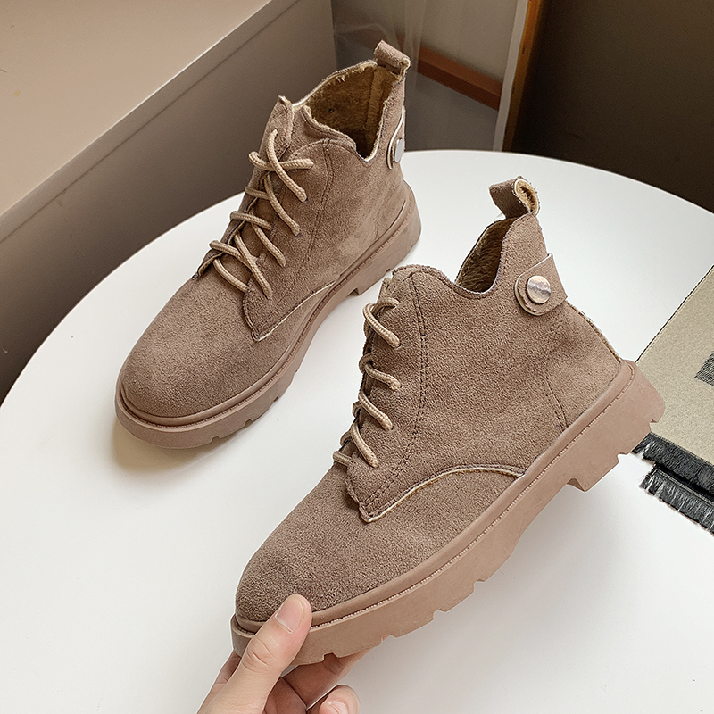 2019 Winter Running Shoes for Women Ankle Boots Warm Snow Suede Flock Casual Sport Walking
