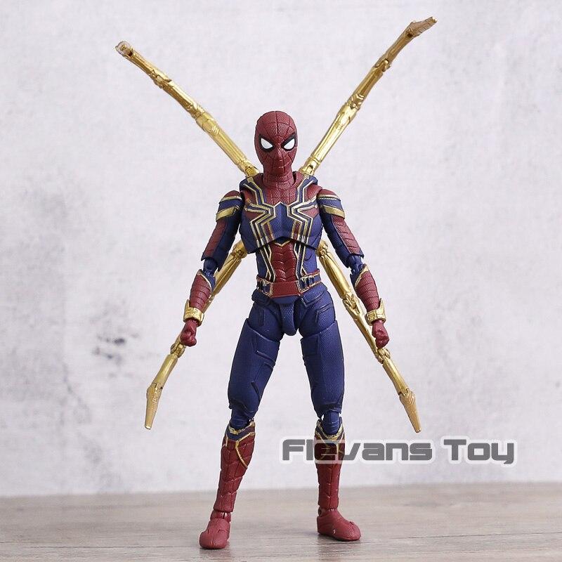 СВЧ «Железный человек», «Человек-паук», ПВХ фигуркы игрушки Подвижные модели Коллекционная фигурка