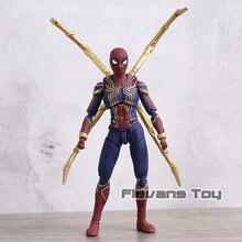 Shf ferro spiderman pvc figura de ação brinquedo modelo móvel collectible estatueta