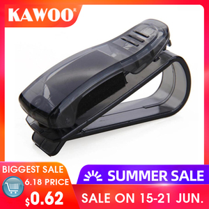 KAWOO Hot Sale Car Accessories Sun Visor Sunglass Eyeglasses Glasses Card Pen Abs Portable Clip Ticket Holder Stand 1Piece(China)