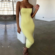 La MaxPa Concise Sling French Style Vintage Instagram Fashion Sexy Backless Streetwear Office Lady Elegant Dress Summer 2019