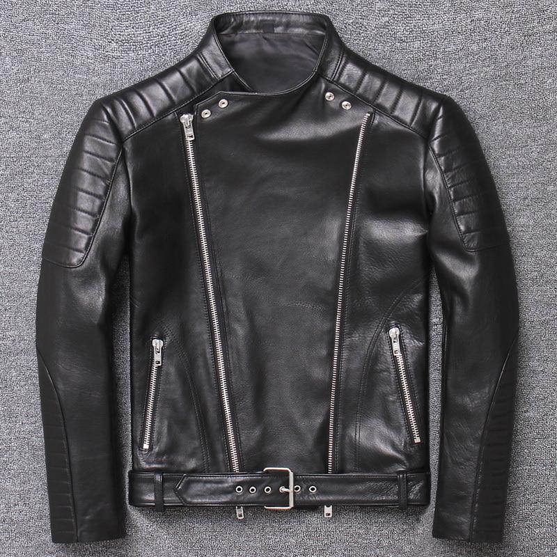100% Genuine Leather Jacket Men Clothes 2019 Streetwear Moto Bilker Sheepskin Coat Man Korean Real Leather Veste Cuir Homme 003