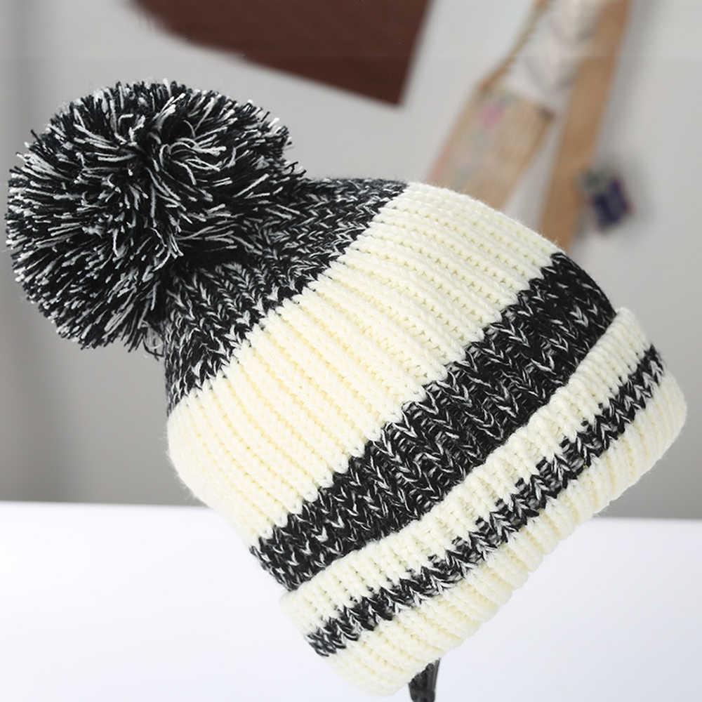 Oeak Mink และ Fox FUR Ball หมวก POM Poms หมวกฤดูหนาวสำหรับผู้หญิงหมวกผู้หญิงหมวกถัก Beanies หมวกยี่ห้อ 2019 ใหม่ผู้หญิงหนา