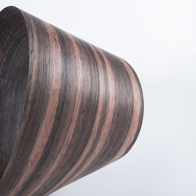 1 рулон натурального черного дерева Мозамбик, шпон Daniela из тонкой древесины, твердая ручная работа, сделай сам, динамик, гитара, напольная меб...