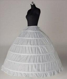 Image 1 - Wedding Accessories Petticoat Vestido Longo Ball Gown Crinoline Underskirt 6 Hoops Skirt Petticoats In Stock
