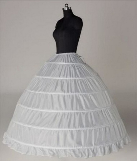 Wedding Accessories Petticoat Vestido Longo Ball Gown Crinoline Underskirt 6 Hoops Skirt Petticoats In Stock