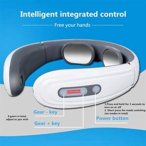Image 3 - Masseur électrique pour dos et cou, thérapie magnétique à impulsions cervicales, chauffage à infrarouge lointain, soulagement de la douleur, Relaxation, soins de santé