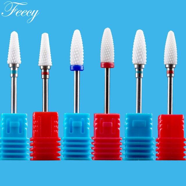 Ceramic Cutter For Manicure Nail Drill Bits Mill For Manicure Nail Drill For Electric Machine Milling Cutter Pedicure Feecy 6T 1