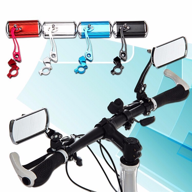 Bicycle Mountain Bike Handlebars Rearview Mirror Modified Aluminum Alloy Rearview Mirror Safety Mirror