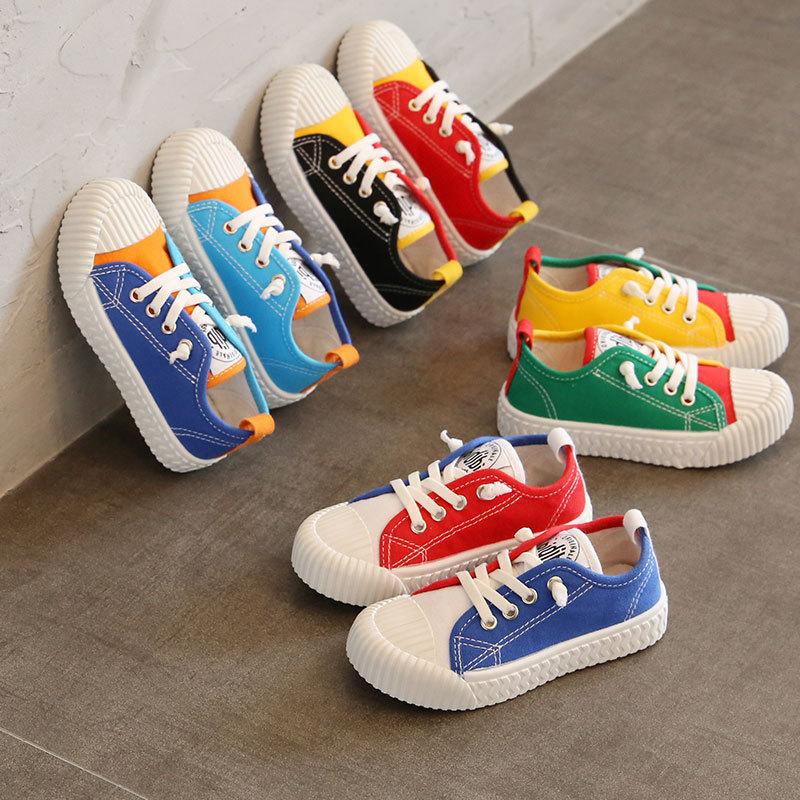 Детские холщовые кроссовки унисекс, Повседневная дышащая обувь для начинающих ходить детей, симпатичные цветные, лето 2020|Кроссовки| | АлиЭкспресс