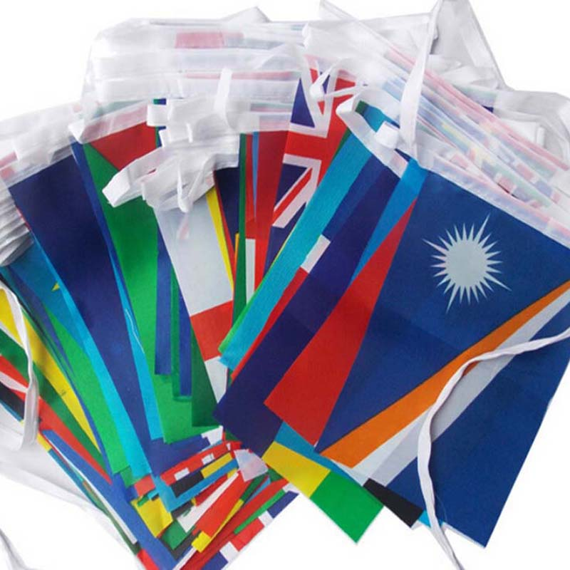 1 Set Different Countries Hanging Flag / Banner Office & Bar & Hotel & Home Decoration Activity & Wk International World Banner