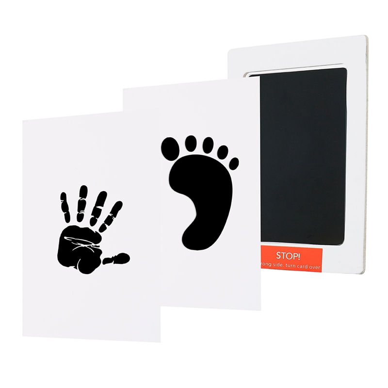 2PCS/Lot Non-Toxic Baby Handprint Footprint Imprint Kits Baby Souvenirs Casting Newborn Footprint Ink Pad Baby Shower Gifts