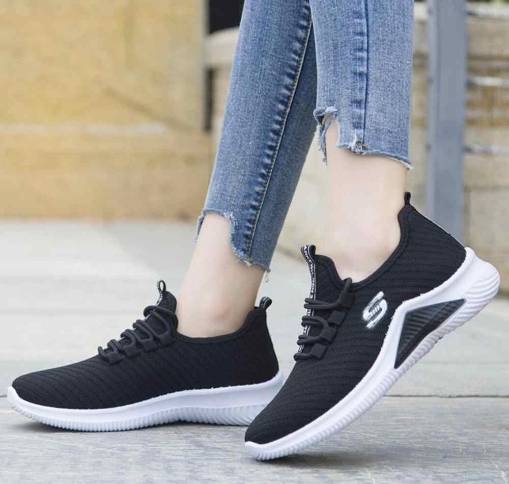 Damskie trampki 2020 damskie buty sportowe damskie trenerzy platforma kobieta kosze Femme Dames czarne Deportivas Mujer Tenis Feminino
