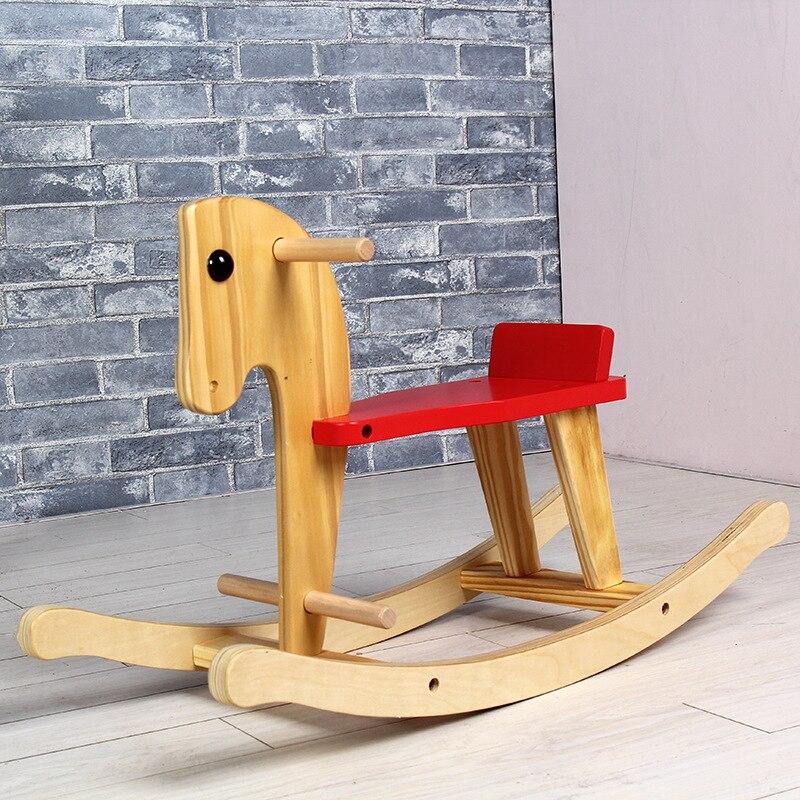 Poussette de cheval en bois pour enfants 2-8Y chaise à bascule pour enfant équitation pour enfants balade à cheval sur jouets chariot à bascule pour bébé