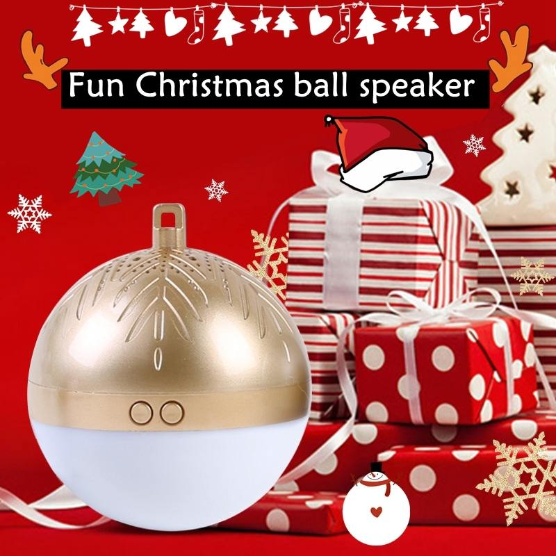 LEORY Fun Christmas Present TWS Wireless Bluetooth Speaker Ball LED Light Christmas Gift Mini Colorful Sound 8 Christmas Songs image