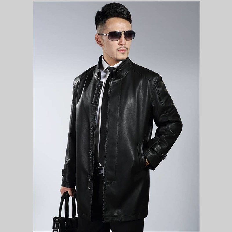 Luxurious Brand Genuine Leather Jacket  Men Autumn Winter Casual Mens Jackets Solid Clothes Fashion Elastic Motorcycle Outerwear