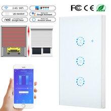 واي فاي مفتاح ذكي الستائر الكهربائية اللمس الستار التبديل eWeLink APP التحكم الصوتي للحد الميكانيكية الستائر الدوارة مصراع