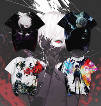 цена на 3-14Years New Tokyo Ghoul  3D Print Kids t shirt Funny Kawaii Cartoon Girl Top Harajuku  Round Neck Short Sleeves Boys Tshirt