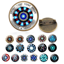 The Avengers 4 I Love You 3000 Times Brooch Iron Man Tony Stark Lapel Pins Three Thousands Marvel Jewelry