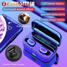 Fone de Ouvido Bluetooth Com Caixa De Carregamento Para Huawei Companheiro 30 Pro 20 P30 Lite Honra 20 10 Lite 9 8 8X 8A 8C Gêmeos Fone De Ouvido Com Microfone