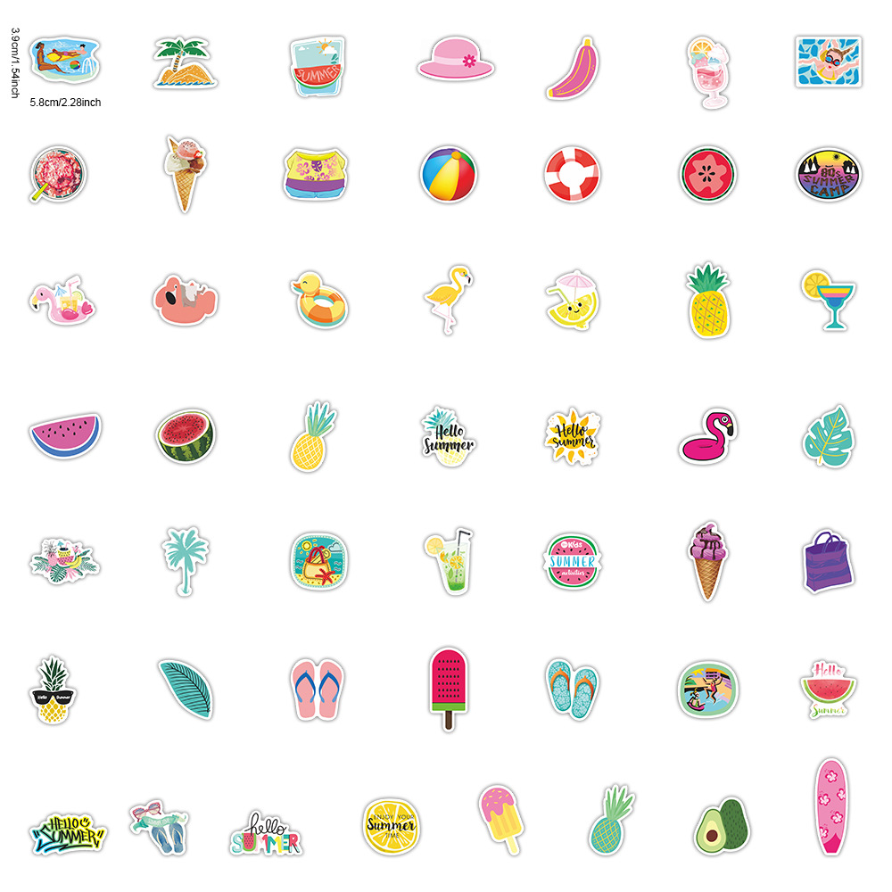 Summer Lovin' Sticker Pack (50 piece) 3