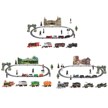 Children Electric Remote Control Rail Train Set Simulation Assembly Model Toy