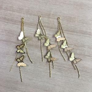 Image 3 - Новое поступление! 80x14 мм 30 шт. бабочка с цепочкой Шарм/соединители Разъемы для ожерелья, серьги запчасти, ювелирные изделия ручной работы DIY