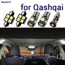 Canbus LED 번호판 램프 전구 + footwell 조명 + 인테리어지도 돔 빛 닛산에 대 한 Qashqai J10 J11 2007 2019